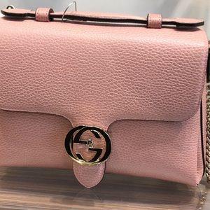 Gucci Pink Interlocking Shoulder Bag